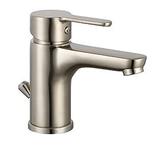 EISL NI075DINNI Diziani – Grifo monomando para lavabo con desagüe excéntrico, aspecto de acero inoxidable