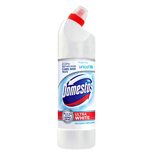 Domestos Ultra White and Sparkle Thick Bleach 750 ml