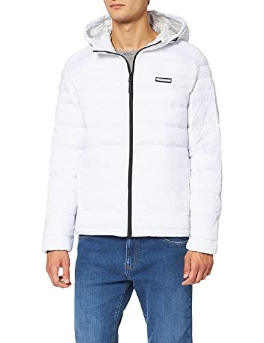 Jack & Jones Jjeace Puffer Hood Noos Jacket, Blanc, XL Homme