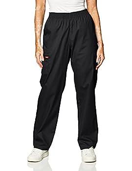 Dickies Women s Signature Elastic Waist Scrubs Pant Black XX-Small Petite