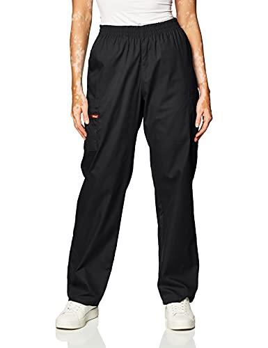 Dickies Women s Signature Elastic Waist Scrubs Pant, Black, Large