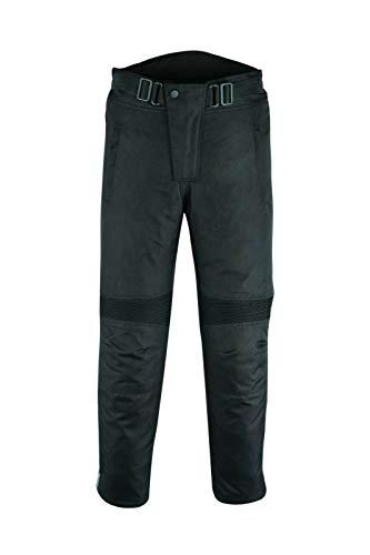 Warrior 3M Dualsport - Pantalones de motocross para hombre, para todo tipo de clima, impermeables, con armadura CE, color negro (W34 L32)