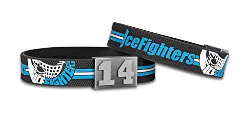 BRAYCE® Icefighters Leizpig Armband mit Deiner Trikot Nummer 00-99 I Eishockey pur mit dem original EXA Ice Fighters Trikot am Handgelenk personalisierbar & handgemacht