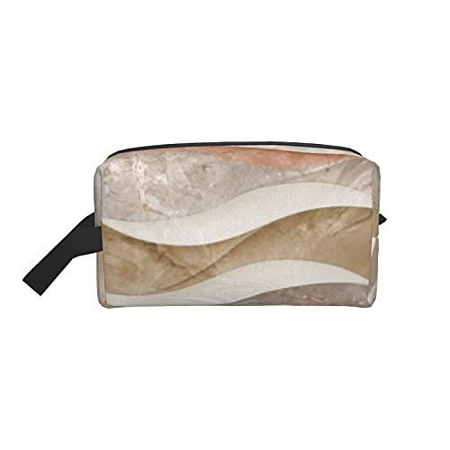 Bolsa de maquillaje Azulejos 3D en material de mármol Mármol Bolsa de viaje cosmética natural Bolsa de aseo grande Organizador de bolsa de maquillaje portátil