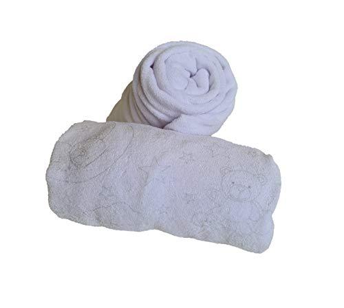 KlassMi Wickelauflagenbezug 75x85 cm Frottee Bezug für Wickelauflage, Überzug für Wickeltischauflage aus Baumwolle, Spanntuch für die Wickelauflage, 2er Set