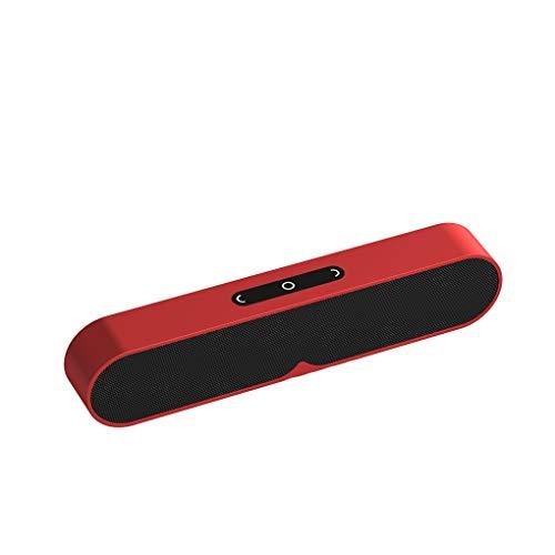 rongweiwang Altavoces 1200MmAh inalámbrico portátil Altavoz Bluetooth al Aire Libre Stereo Hi-Fi MP3 Inicio micrófono de Sonido Construir-en el micrófono TF Tarjeta AUX