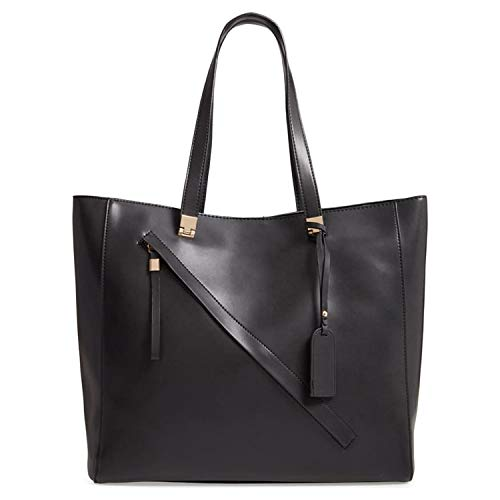 Sole Society womens Nycky Leather Tote Black