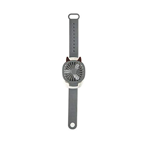 Pequeño ventilador de bolsillo USB recargable, ventilador eléctrico que se pliega la tercera marcha verano (gris)