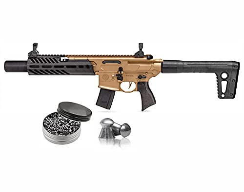 Sіg Sauer MCX Canebrake .177 Cal CO2 Powered Air Rifle with 500 Pellets Bundle (CO2 NOT Included)