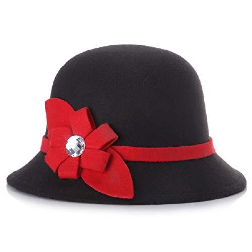 Preisvergleich Produktbild kyprx Herren Baseball Caps Günstige Herren Baseball Khaki Black Bucket Hats Elegante Blume Cloche Caps Girls
