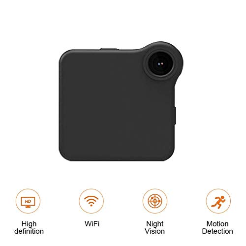 B&H-ERX Mini spionagecamera, wifi, verborgen camera, draadloos, HD 1080P, binnen, kleine spy cam, beveiligingscamera's, meisjescamera met bewegingsdetectie, nachtzicht (zwart), Oro rosa + oro rosa