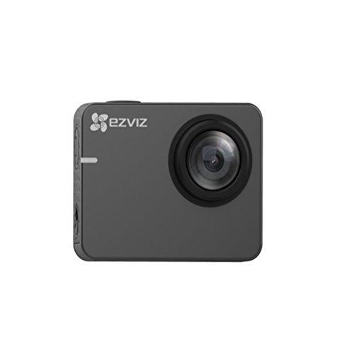 EZVIZ S2 Lite Sport Action Camera, Fotocamera di Azione, Wifi FHD 1080P 60 fps, 8 MP, BLE 4.0, Modalità Guida, Supporto MicroSD fino 256 GB, Grigio