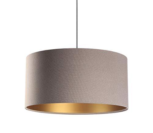BPS Koncept Glamour Daminia - Lámpara de techo (40 cm), color beige y dorado