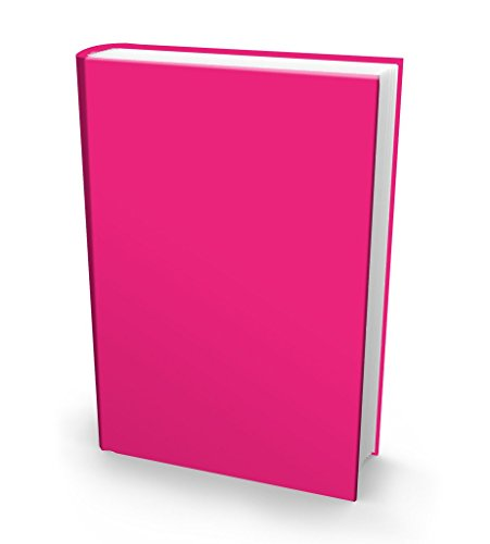 """Book Sox Stretchable Book Cover: Jumbo Solid Pink. Fits Most Hardcover Textbooks up to 9"""" x 11"""". Adhesive-Free, Nylon Fabric School Book Protector. Easy to Put On. Washable & Reusable Jacket."""