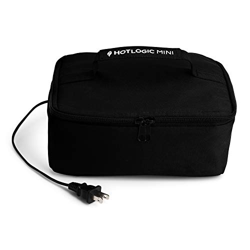 HOTLOGIC Food Warming Tote Lunch Bag 120V Black - Food Warmer and Heater – Lunch Box for Office Travel Potlucks and Home Kitchen