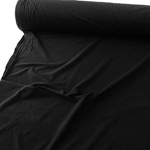 TOLKO Baumwollstoffe Meterware | Deko-Molton Stoff für Verdunklungsvorhänge | 300cm breit | 1mm dick | zum Nähen und Dekorieren (Schwarz)