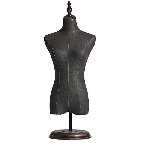 ZAQI Maniqui Costura Modista Busto Modelo de Vestido Femenino de Sobremesa, Tiendas de Dormitorio Estudios Muestra Maniquí del Torso Superior, Altura Ajustable (Size : M)