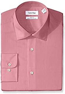 Calvin Klein Men's Dress Shirt Regular Fit Non Iron Herringbone