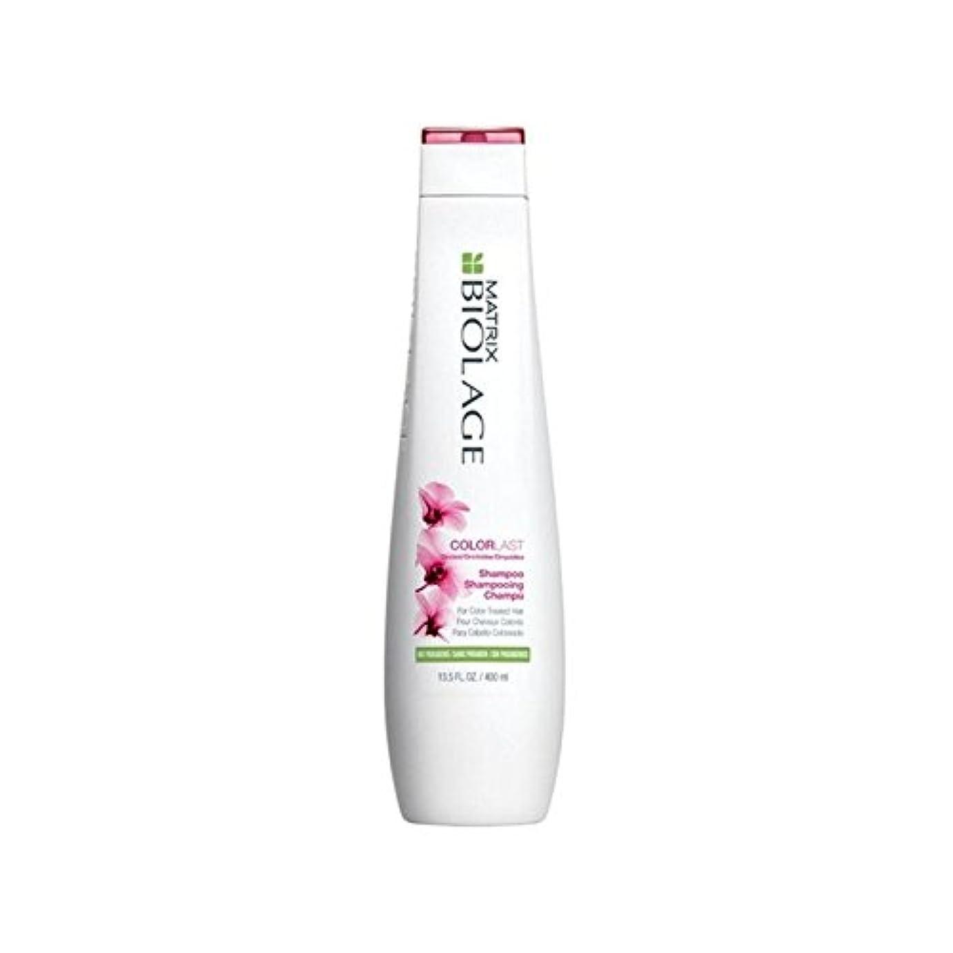 繊細迫害換気する行列のバイオレイジシャンプー400ミリリットル x4 - Matrix Biolage Colorlast Shampoo 400ml (Pack of 4) [並行輸入品]