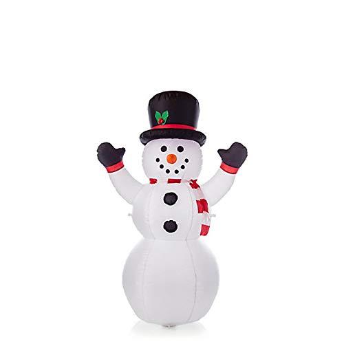 Figura de muñeco de nieve con luz LED, 180 cm