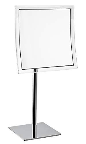 INDA Hotellerie Vergrößerungsspiegel, Messing, 16 x 20 x 41 cm, Weiß