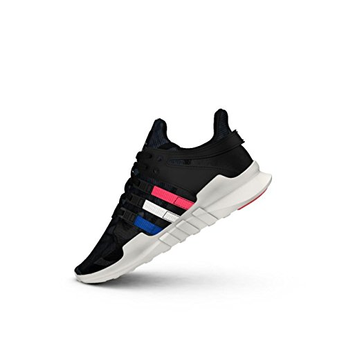adidas Zapatillas Deportivas Originals EQT Support ADV Junior (UK 4.5 US 5 EU 37 1/3, Color Negro, Azul y Blanco, BB0243)