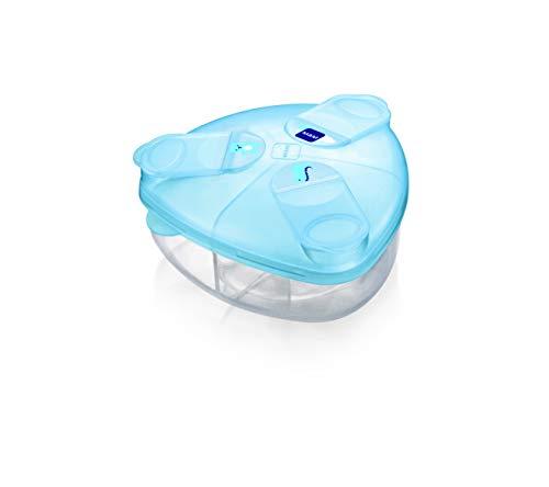 Mam Milk Box contenitore Latte in Polvere, con Scomparti da 40 G Ciascuno, Azzurro