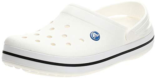Crocs Crocband U, Zuecos Unisex Adulto, Blanco (White), 42-43 EU