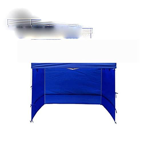 Carpa portátil para Exteriores Tela Oxford Pared Lateral Resistente a la Lluvia Carpa Impermeable Gazebo Sombra de jardín Refugio Pared Lateral (sin toldo Superior) -3x3M Azul Normal