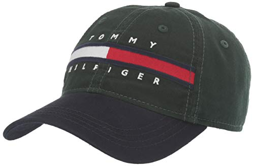 Tommy Hilfiger Men's Dad Hat Avery, Pine Grove/Sky Captain, OS