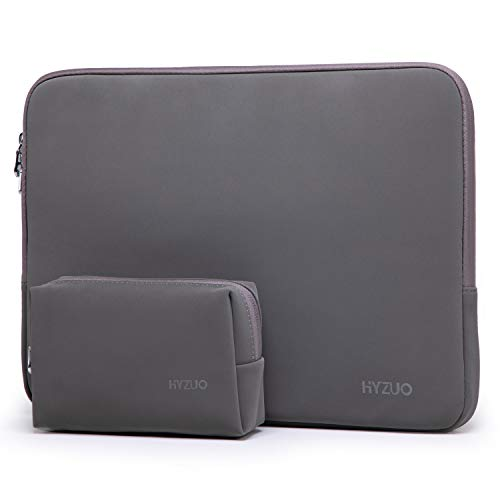 HYZUO 13 Pulgadas Funda Ordenador Portátil Compatible con MacBook Air 13 2018-2020/MacBook Pro 13 2016-2020/iPad Pro 12,9 2020/Dell XPS 13/13,3 Samsung Galaxy Book S/Surface Pro X 7 6 5, Gris