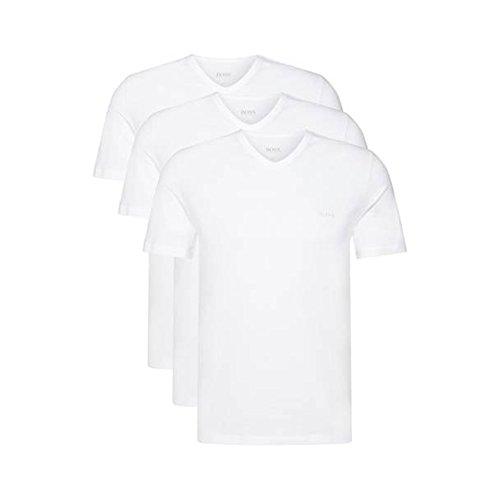 BOSS Hugo 3er Pack V Neck V Ausschnitt XL 3 x weiss T Shirts Farbe 100 Vorteilspack