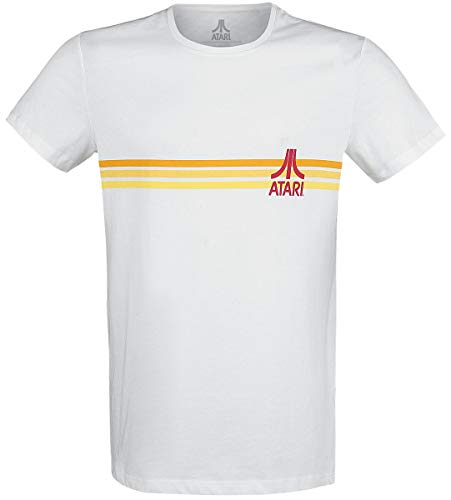 Atari Striped Logo T-Shirt weiß M