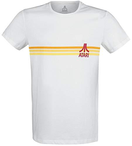 Atari Logo Rayures T-Shirt Manches Courtes Blanc XL