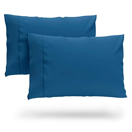 Cosy House Collection Premium Bamboo Pillowcases - Standard, Royal Blue Pillow Case Set of 2 - Ultra Soft & Cool Hypoallergenic Blend from Natural Bamboo Fiber