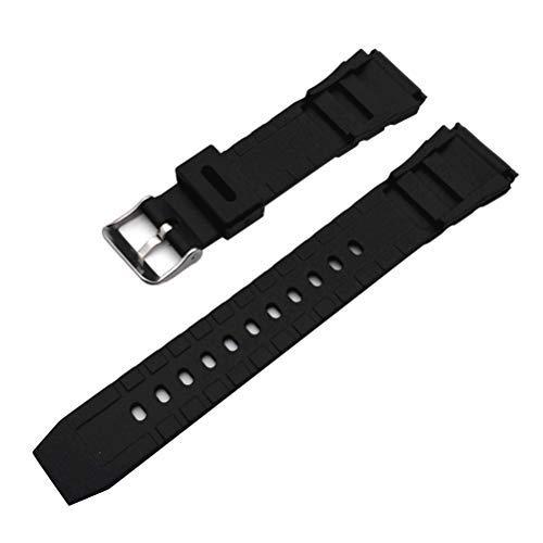 NICERIO 2 Piezas Correa de Caucho Material de PU Correa de Reloj de Repuesto para Reloj G Shock (18 mm / 20 mm Negro)