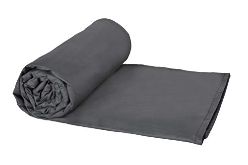Weighted Blankets Plus LLC - Made in USA - Adult Large Weighted Blanket - Smoke - Cotton/Flannel (72' L x 42' W) 16lb Medium Pressure.