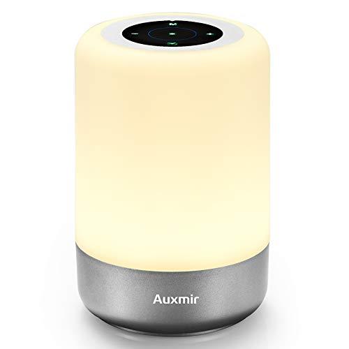 Auxmir LED Touch Tischlampe Berührungssensor Farbwechsel, mit Warmweißem Licht, 8 Farben 3 Helligkeitsstufen und Dimmbar Atmosphäre Tischlampe, Nachtlicht für Schlafzimmer Wohnzimmer und Büro