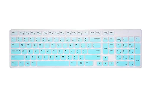 Keyboard Cover Skin for Lenovo AIO 520 22 & 520 27, ideaCentre A340 23.8' & 24, ideaCentre 3 24, ideaCentre A540 All in One Computer - Gradual Mint