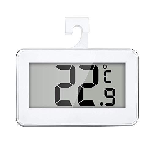 Termómetro del Refrigerador Digital Resistente Al Agua De Temperatura Inalámbrico Nevera Congelador De -20 a 60 Grados Grande del LCD Display
