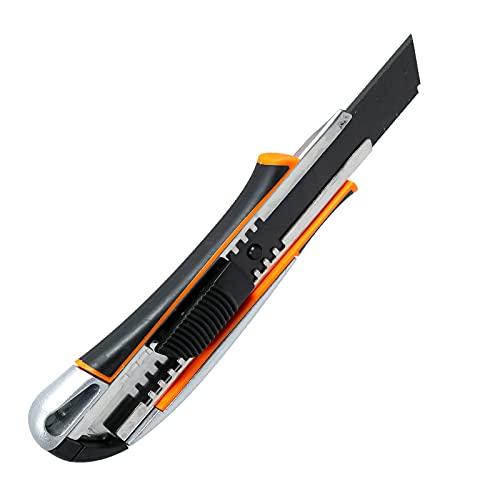 TKSE Cuchillo multiusos, cuchillo de arte, cuchillo multiusos, cuchillo de papel, material de oficina, herramienta práctica con 1 hoja de repuesto.