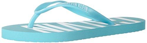 Calvin Klein underwear FF Sandal, Los Fracasos de tirón Mujer, Azul (Blue...