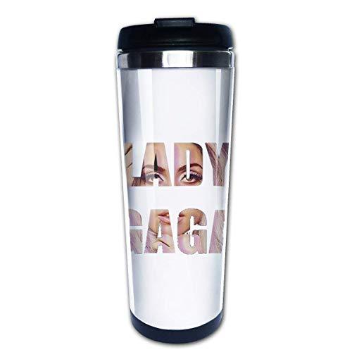 Botella de agua Taza Taza de viaje Vaso de café Tazas de café Lady Gaga Love Ocio Tenis Taza de café Tazas de café de acero inoxidable Botella de bebida de agua para adultos Niños