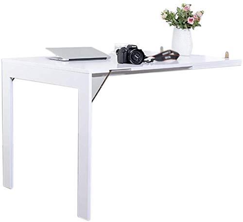 DNSJB Mesa telescópica plegable de pared para colgar en la pared, mesa de comedor, plegable, mesa de estudio (color: blanco, tamaño: 90 x 60 cm)