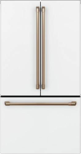 Cafe CWE23SP4MW2 36 Inch Counter Depth French Door Refrigerator in Matte White