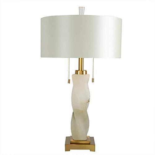 Mármol latón frontera personalidad creativa lámpara de mesa sala dormitorio decoración noche luz ajustable tricolor 40 * 72 cm