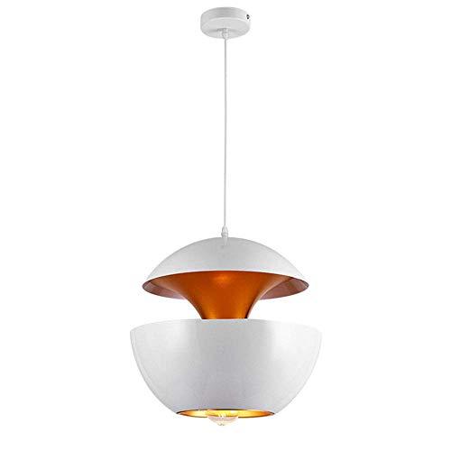Candelabro, Lámpara Colgante nórdica Candelabro Minimalista Moderno Un Solo Cabezal Restaurante Bar Luz de Techo Creativa Lámparas de Aluminio Base E27, Negro,? 25cm