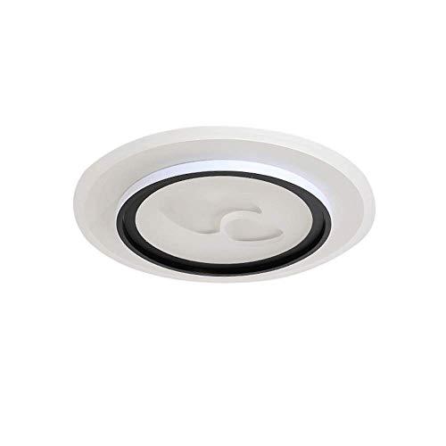 WANQINV Lámpara de Techo LED incorporada Simple y Moderna 2.36in lámpara de Techo Redonda romántica de acrílico de acrílico de Tres Colores 60W Adecuado para Sala de Estar, Dormitorio, Estudio