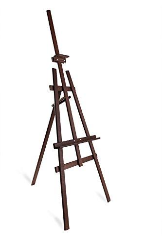 Studio Easel (1800mm) Display–Pinienholz–Leinwand–Bild–Halter–Braun