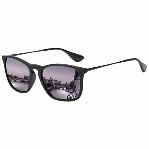Square Sunglasses for Men Women Scratch Resistant Lightweight Rectangular Retro Matte Frame 400UV Protection Driving Outdoor